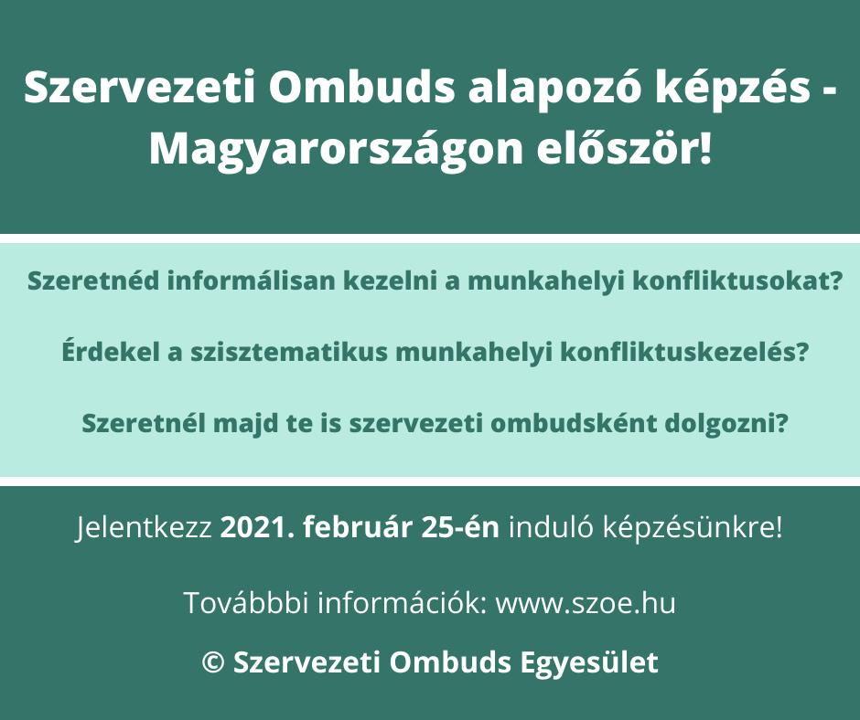 Szervezeti Ombuds alapozó képzés - Magyarországon először!